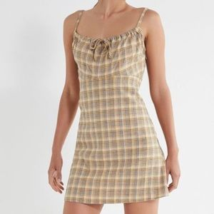 Urban outfitters plaid mini dress